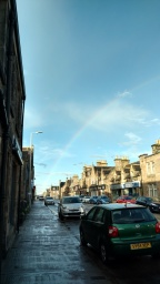 Rainbow in the middle of Church Street