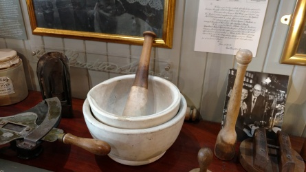 Mortar and pestal at Baxter's museum