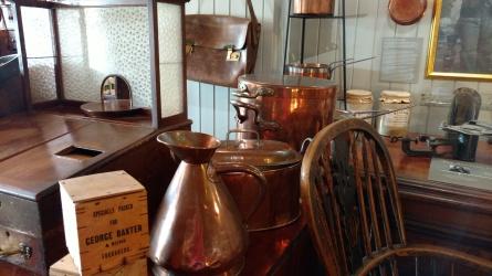 Copper pots at Baxter's museum