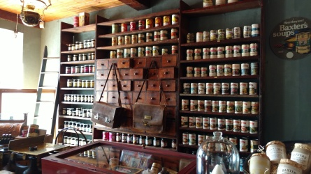 A general store display at Baxter's museum
